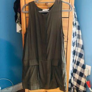 Oversized Pocket Tank Dress